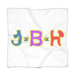 White Poly Scarf - JBH Multicolor