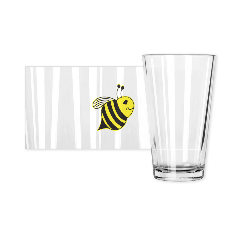 Pint Glasses - Bee