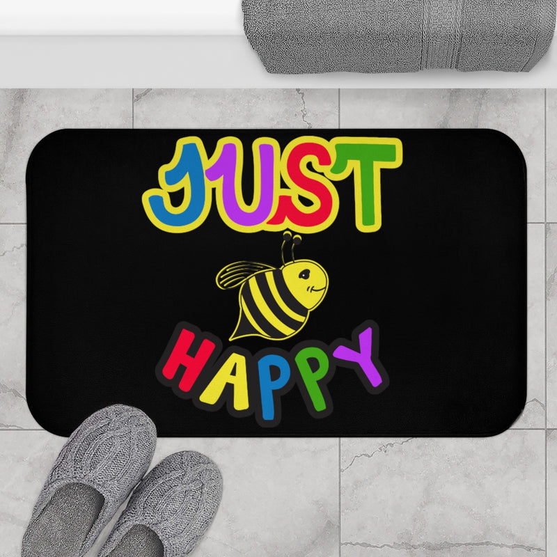 Black Bath Mat - JBH Multi-Color