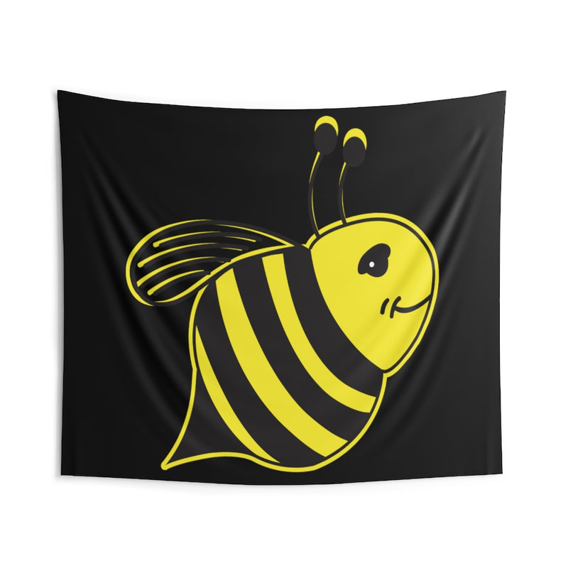 Black - Indoor Wall Tapestries - Bee