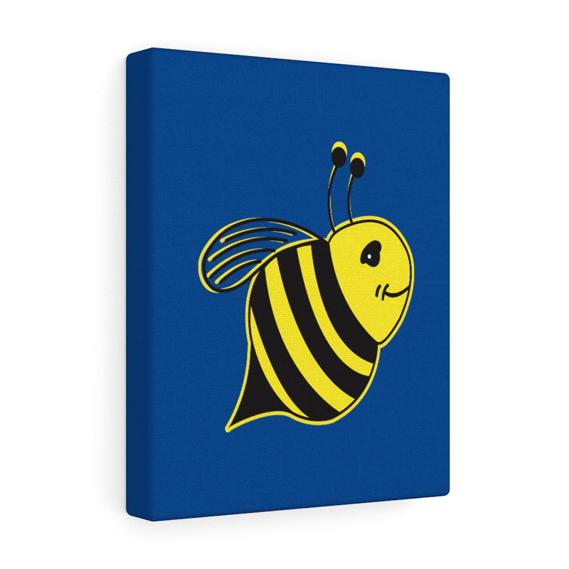Blue Canvas Gallery Wraps - Bee