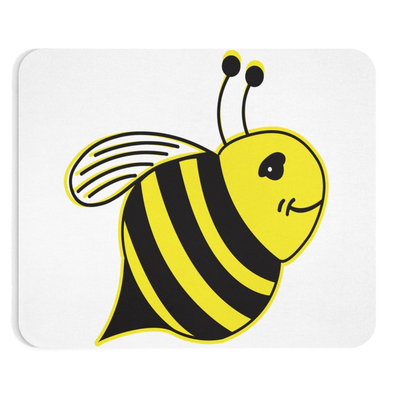 White - Mouse Pad - Bee