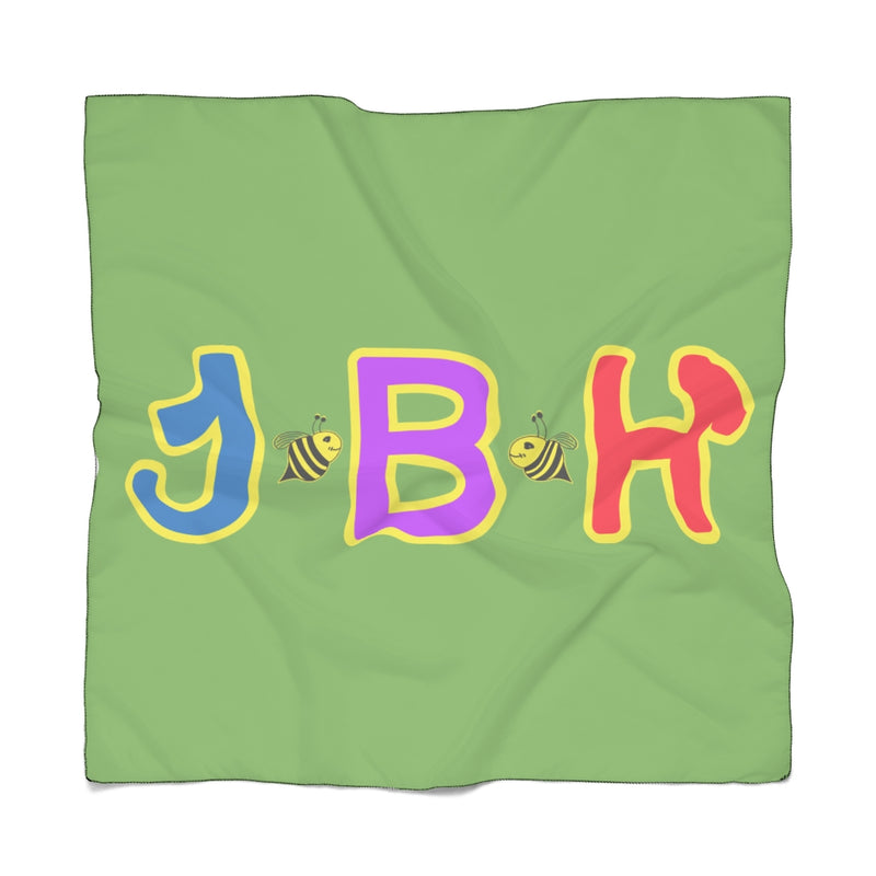 Green Poly Scarf - JBH Multicolor