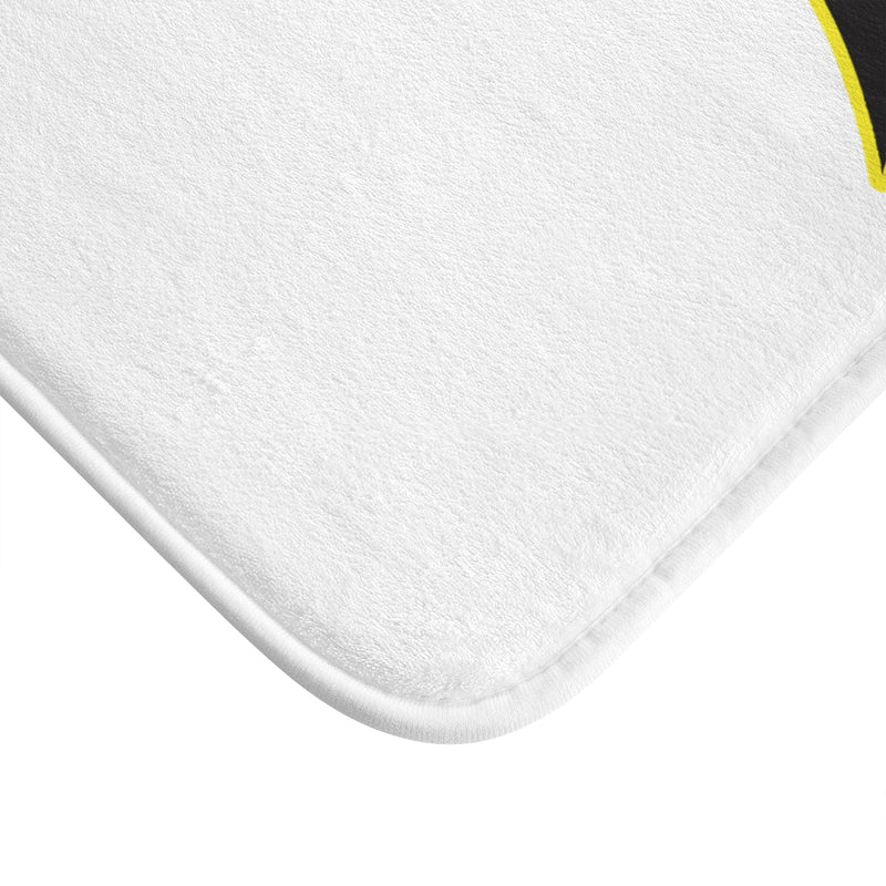 White Bath Mat - Bee