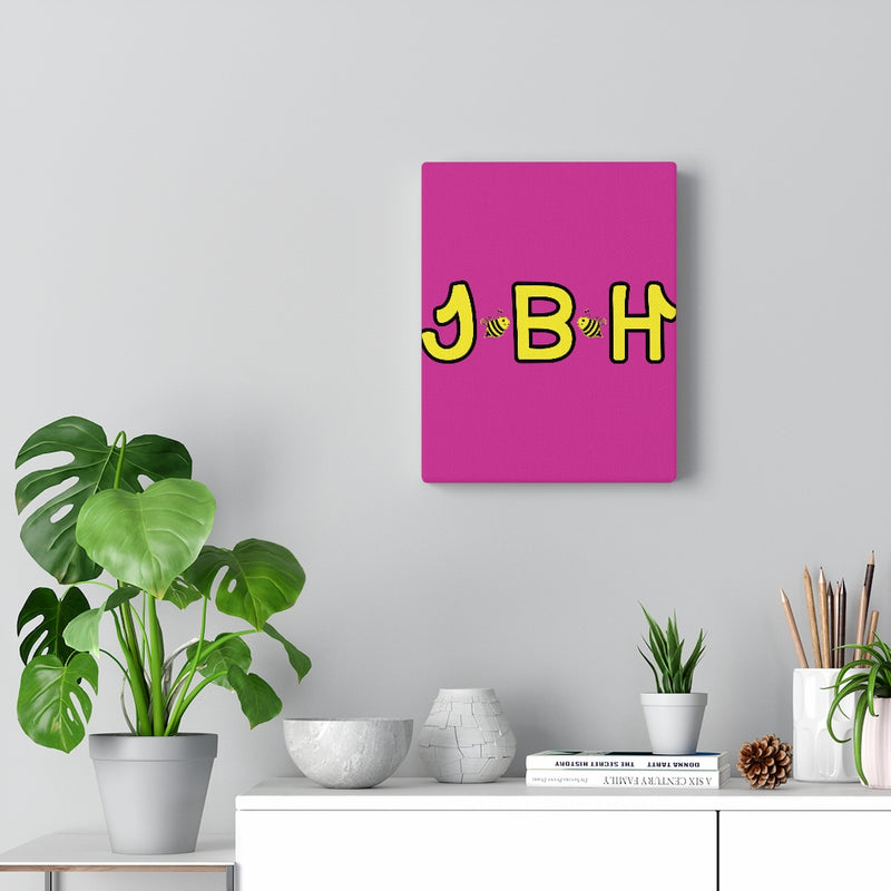Dark Pink Canvas Gallery Wraps - JBH Yellow