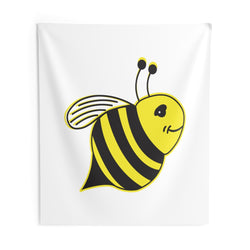 White - Indoor Wall Tapestries - Bee