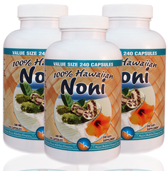SALE! 3 bottles of Hawaiian Noni capsules 240 count