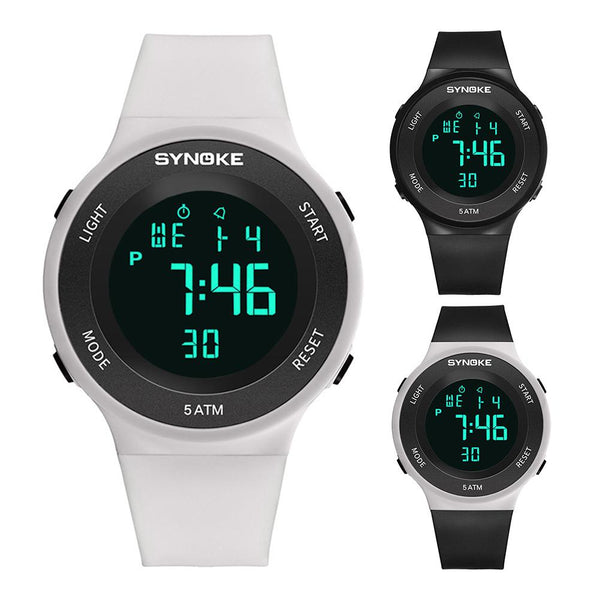 Unisex Sports Wrist Watch Outdoor Waterproof Alarm Plastic Band Date Display Watch  Smart portable Wrist Clock for men women