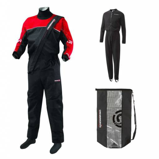 Crewsaver Front zip drysuit+fleece+sac étanche