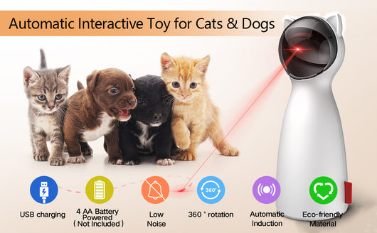 Cat Interactive Auto Rotating LED Laser Toy - caturdayco