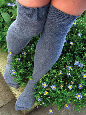Denim Over The Knee Socks