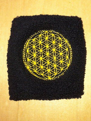 black sweat band - flower of life