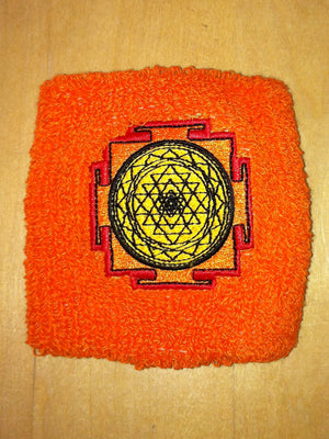 sri yantra orange sweat band