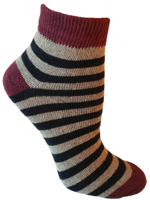 Zeus Striped Ankle Sock