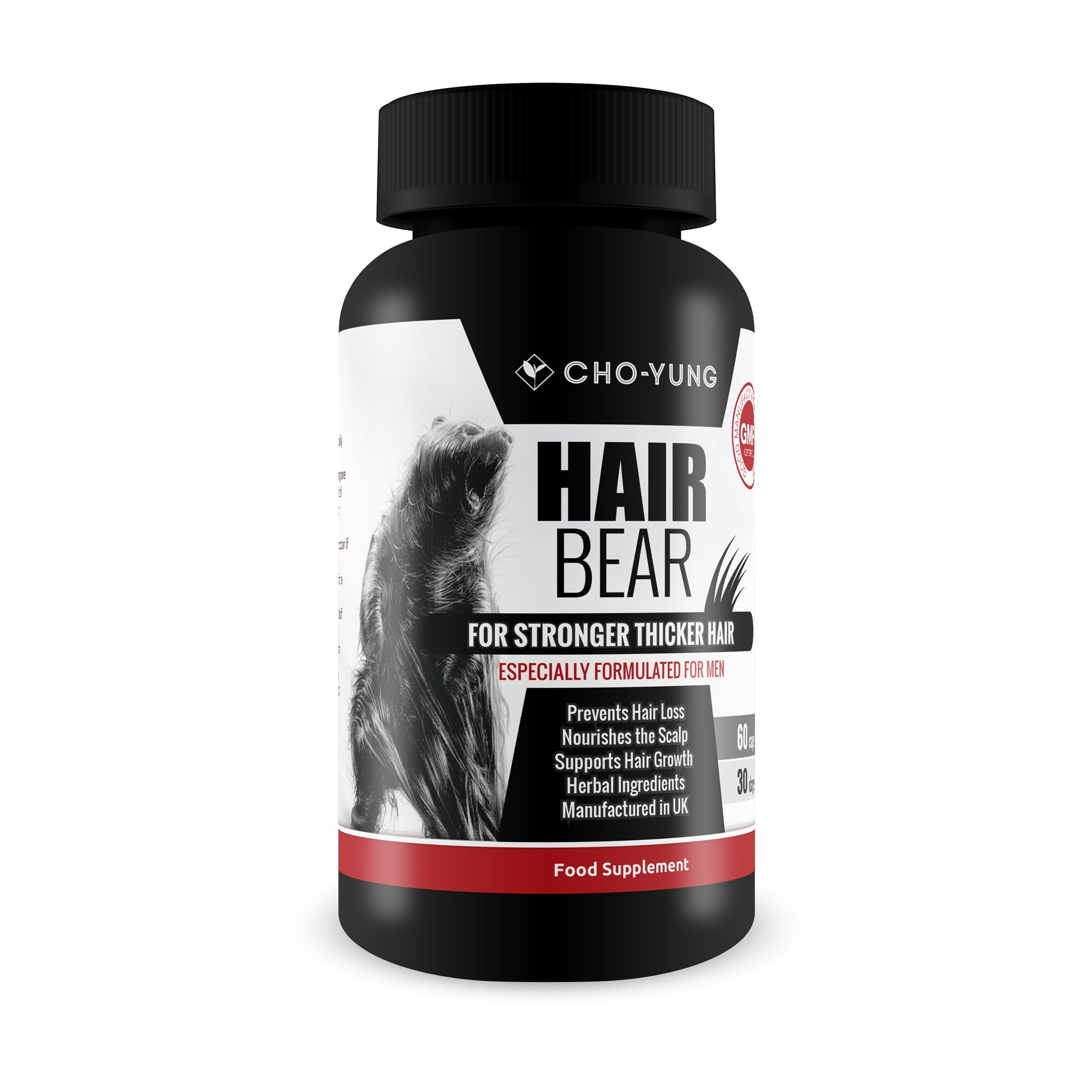 Hair Bear Biotin Complex - Hair Nutrition for Men