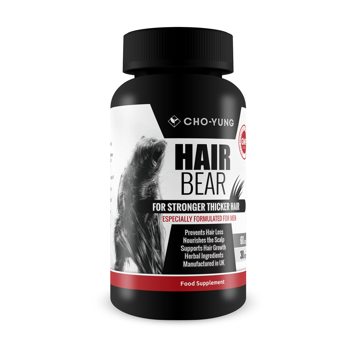 Hair Bear - Hair & Beard Nutrition for Men - Facial, Receding, Hair Loss