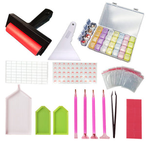 5D Diamond Painting Tools and Accessories Kits Roller pen Clay Tray stylo Diamond Embroidery Tray Box sets