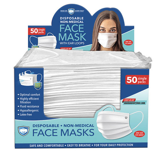 Customizable Individually Wrapped Mask PKG QTY 50