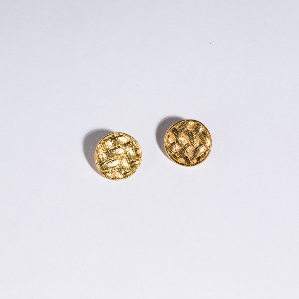 Basket Coin Studs