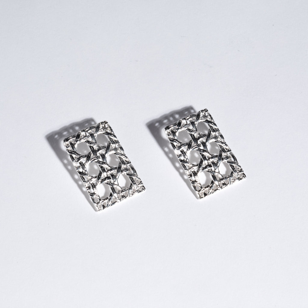 Rectangular Caning Earrings