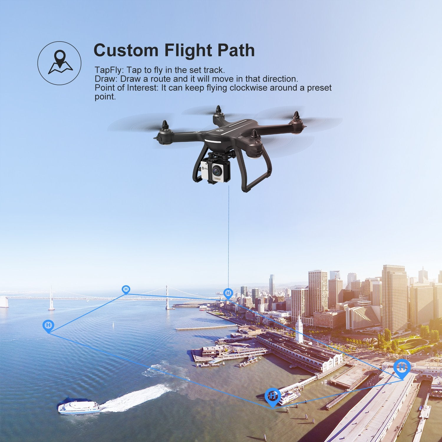 Holy Stone HS700D Drone GPS Brushless 5G 800M WIFI FPV 2K Camera Full HD GPS RC Drone Camera