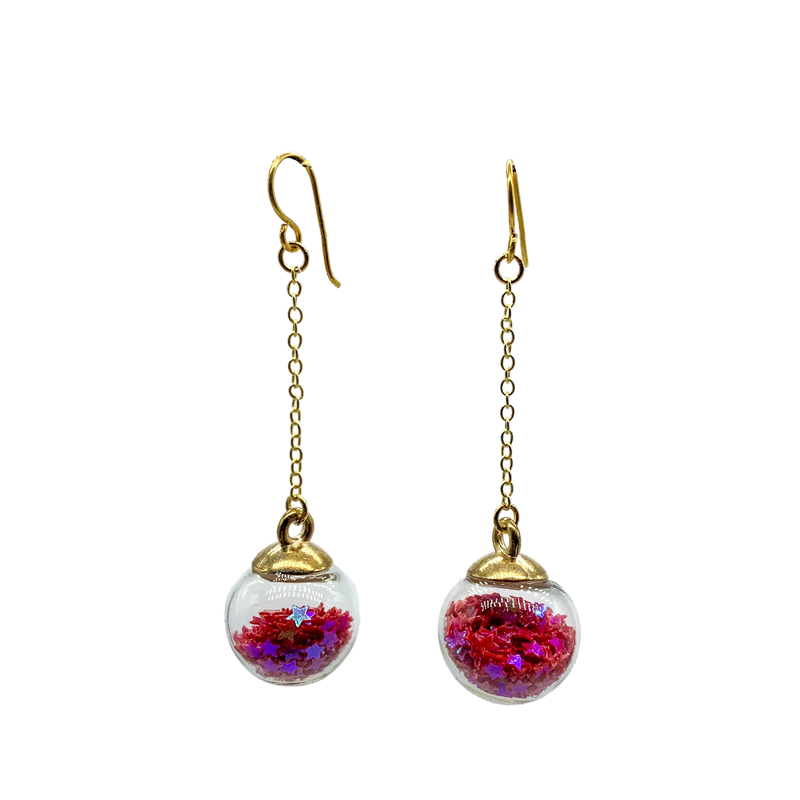 Snow-globe Earrings