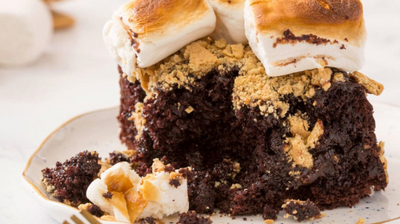 Salted Nutella S'mores Chocolate Layer Cake