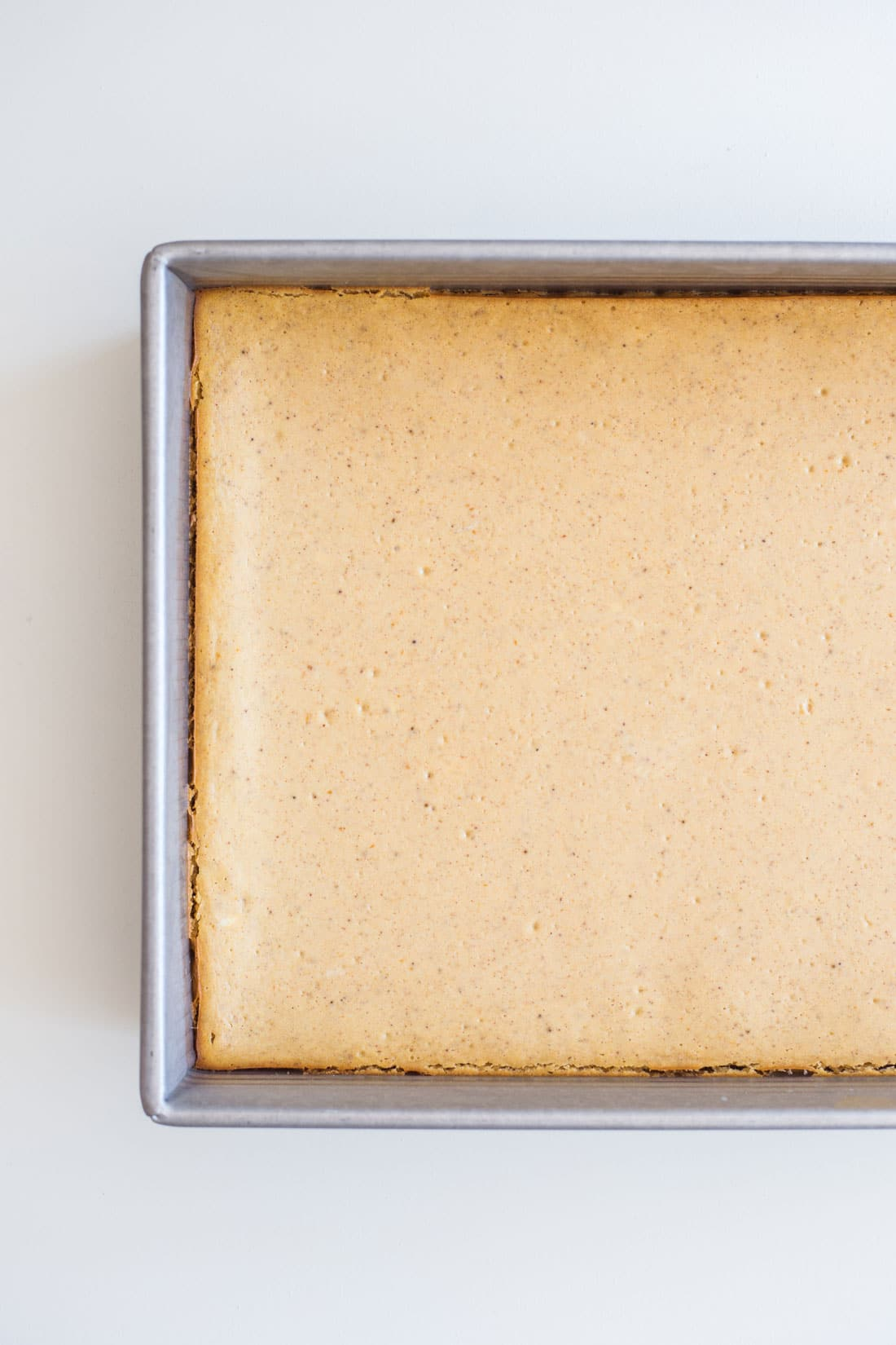 Top image of Miss Jones Baking Co Easy Pumpkin Cheesecake Bars cooked