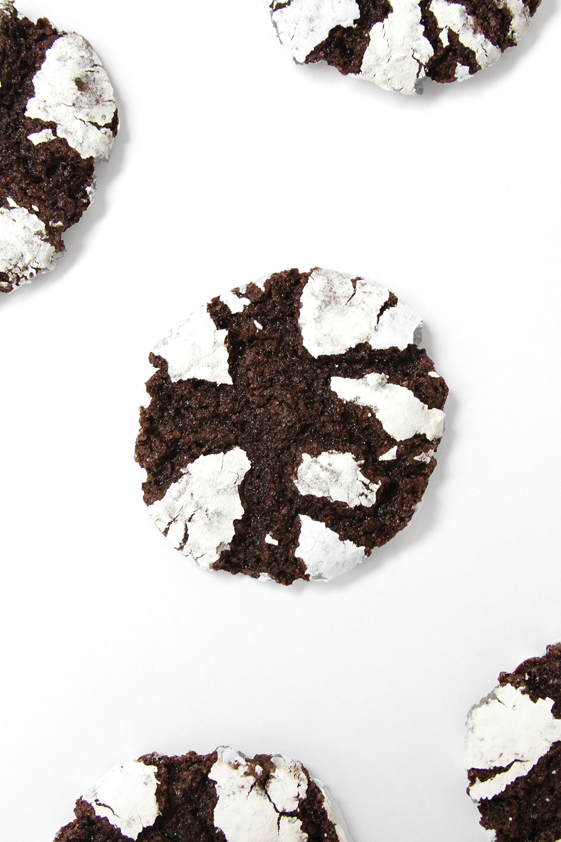 Close up image of the top of a Miss Jones Baking Co Brownie Batter Crinkle Cookie