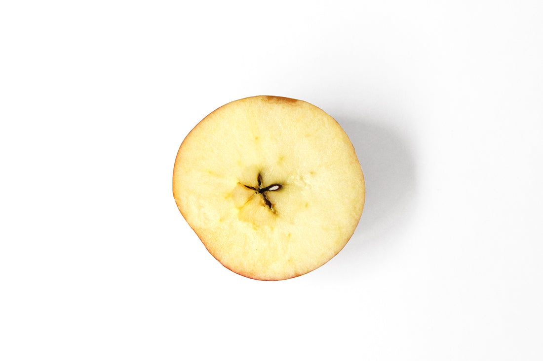 Image from above of half an apple used for Miss Jones Baking Co Caramel Apple Bars