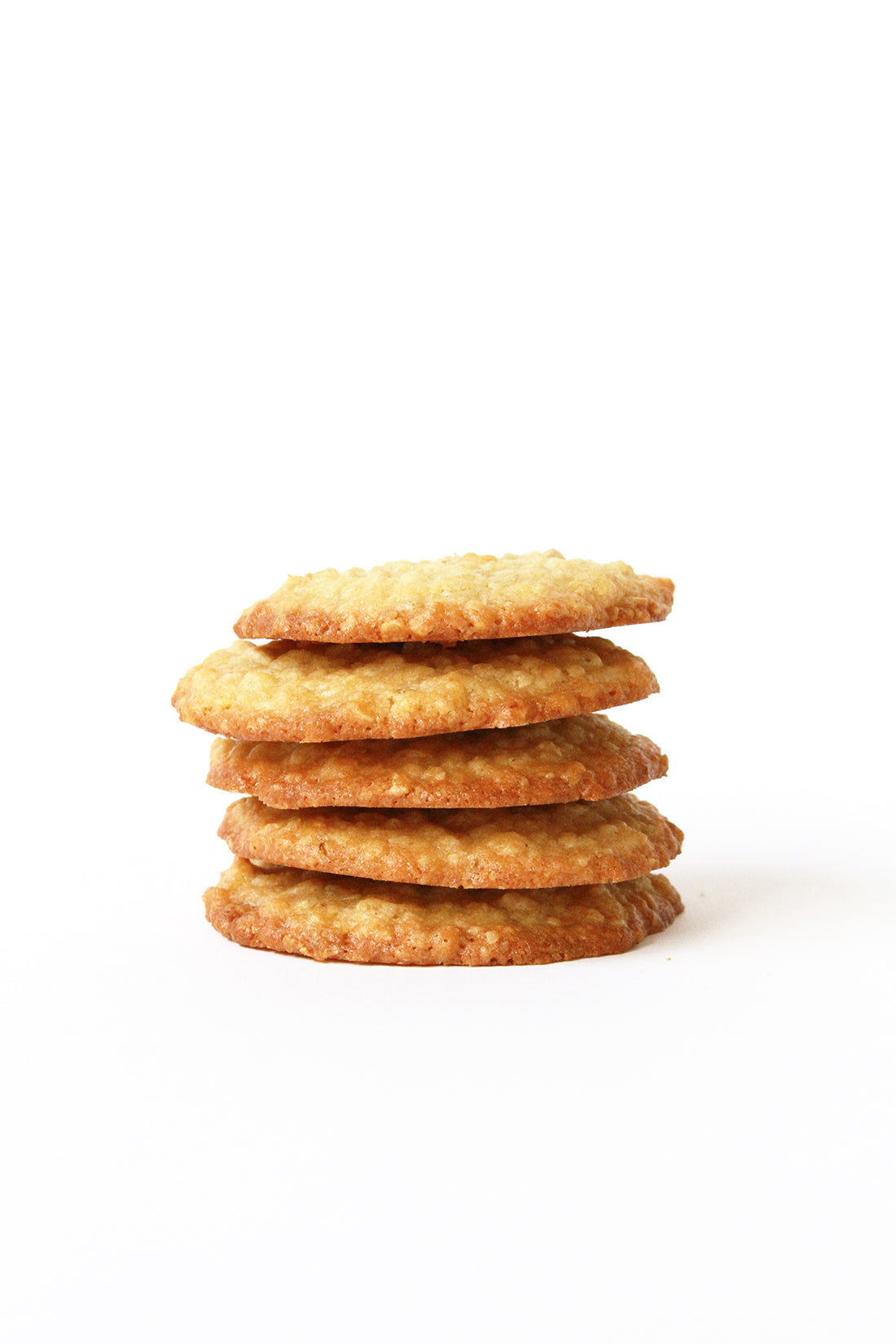 Image of a stack of five Miss Jones Baking Co Ginger Oatmeal Drop Cookies