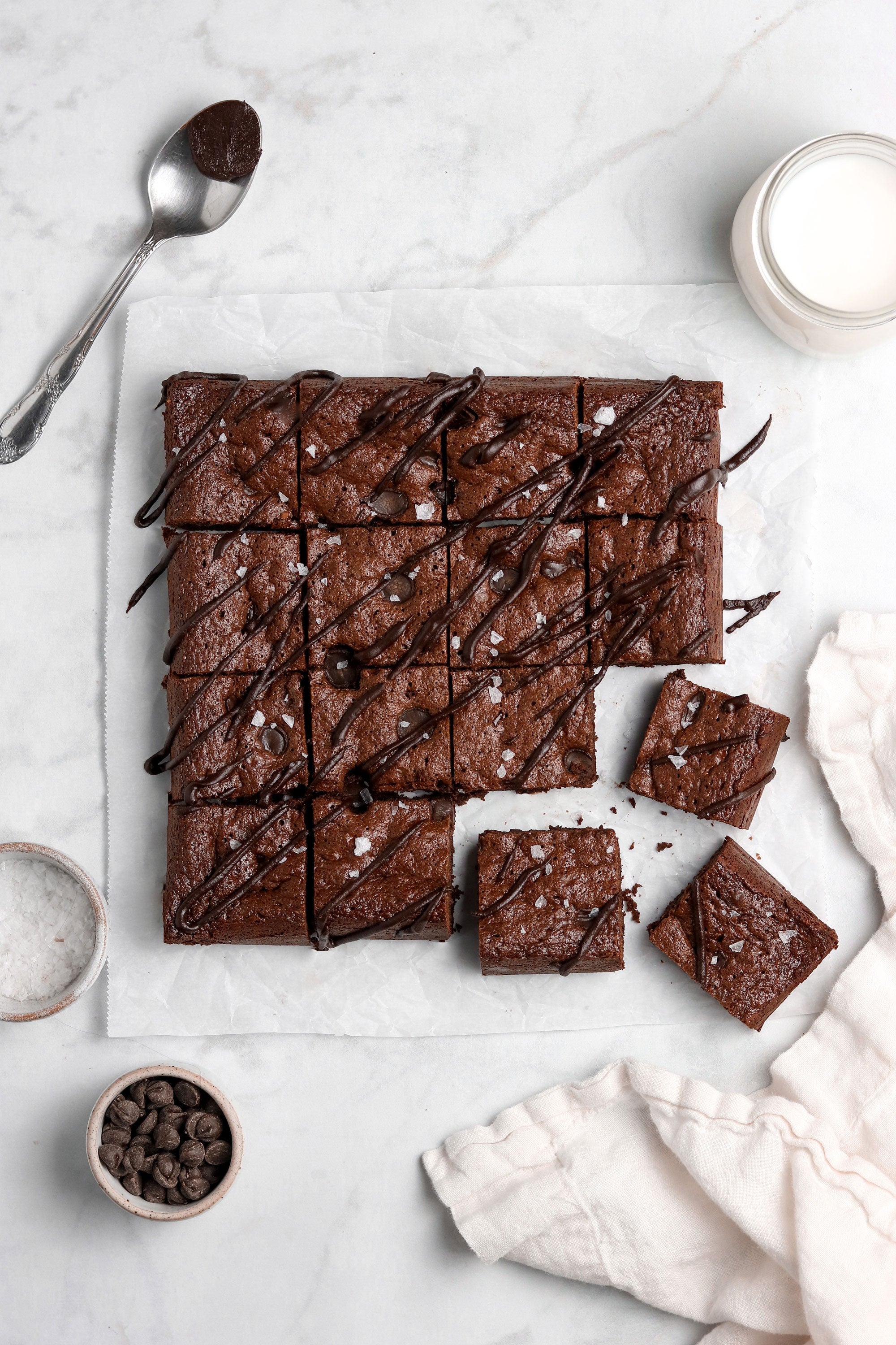 Image from above of Miss Jones Baking Co Paleo Brownies
