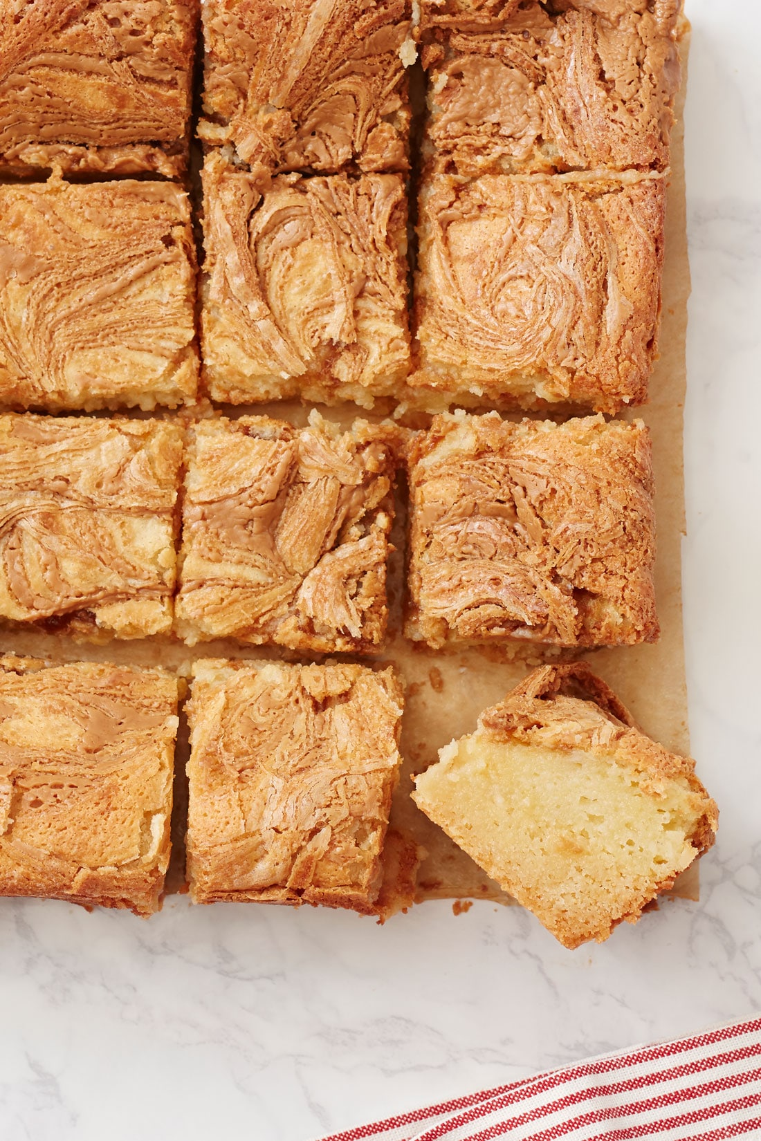 Top of 8 of Miss Jones One-Bowl Cookie Butter Gooey Butter Bars