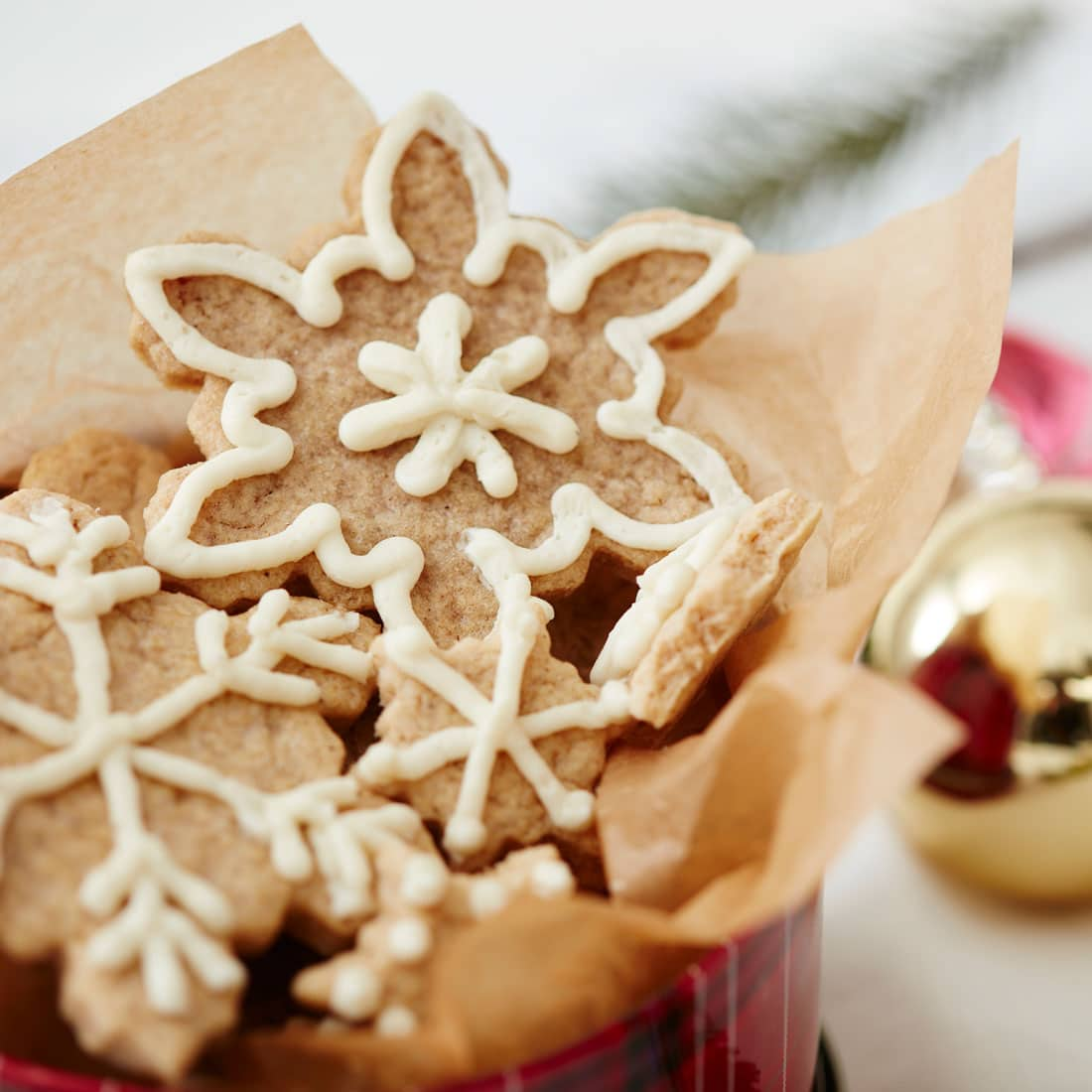Close up of Miss Jones Baking Co|Soft & Chewy Gingerbread Cookies
