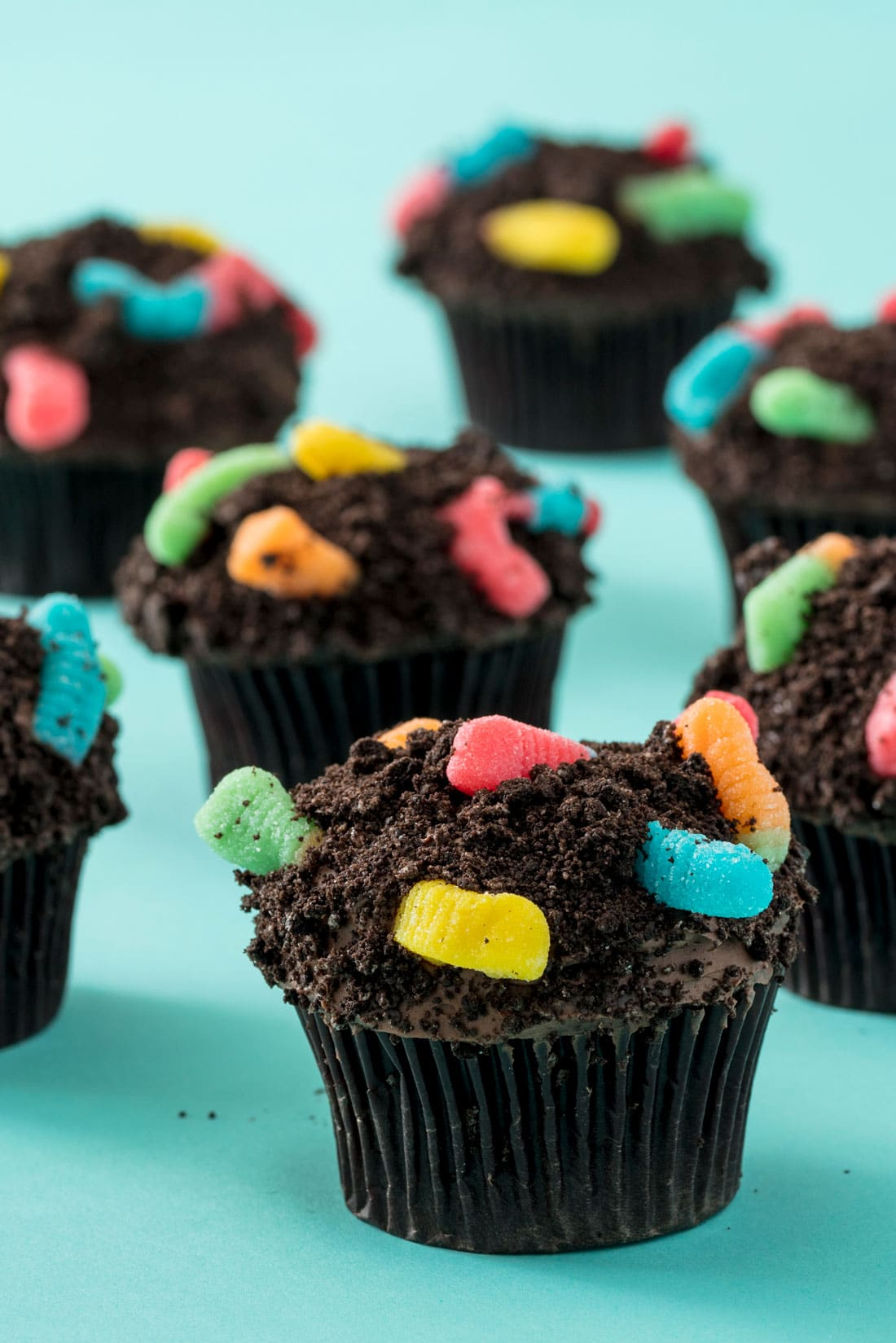 Miss Jones Baking Co Worms and Dirt Cupcakes