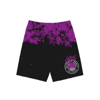 Official Internet Money Black & Purple Dye Shorts