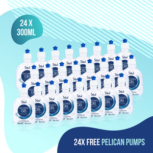 24 x 300ml Hand Sanitiser Gel 70% Alcohol