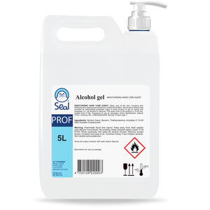 5L Hand Sanitiser Gel 70% Alcohol + FREE Dispenser Pump