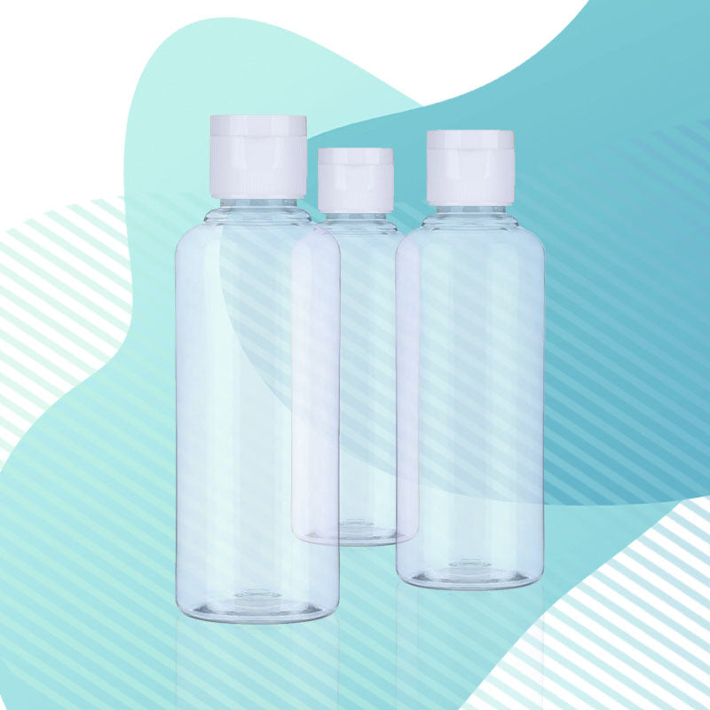 50ml Clear Empty Travel Pocket Size Reusable Bottle with Flip Lid