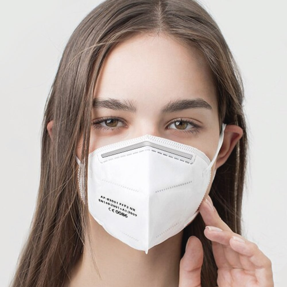 KN95 FFP2 Grade White Disposable Face Mask - Pack of 10