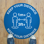 300mm Vinyl Floor Sticker - Keep Your Distance
