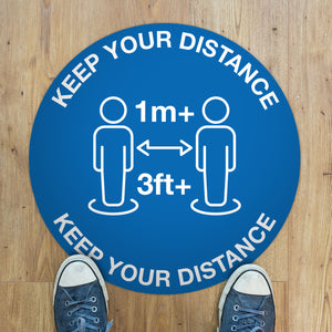 Load image into Gallery viewer, 300mm Vinyl Floor Sticker - Keep Your Distance