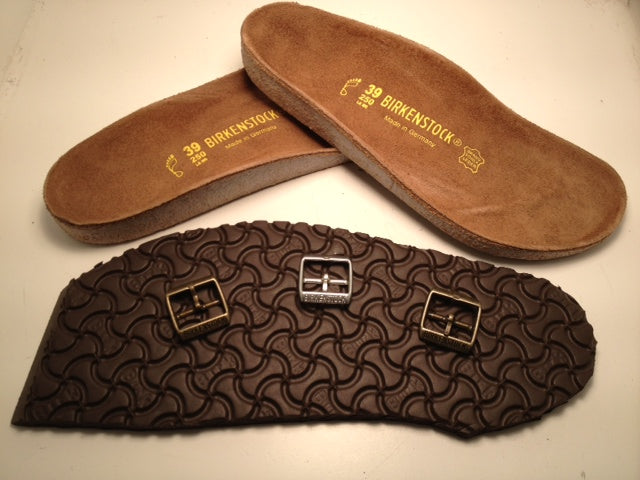 f4cf8df205707 We never cut corners and only use Birkenstock brand products for repairing.  Birki soles are well stocked. Brass and silver buckle options as well as  all ...