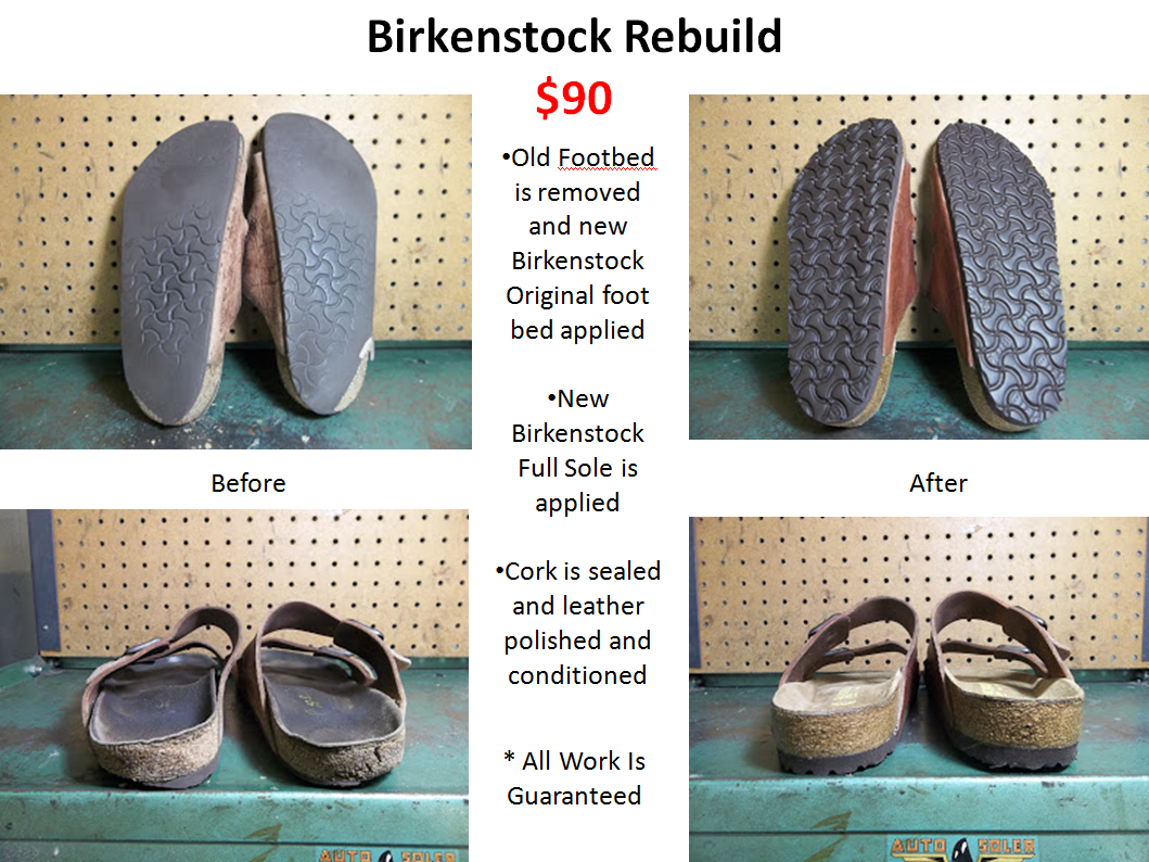 40a48bd46bfb Birkenstock Repair at Model Shoe Renew in Berkeley CA