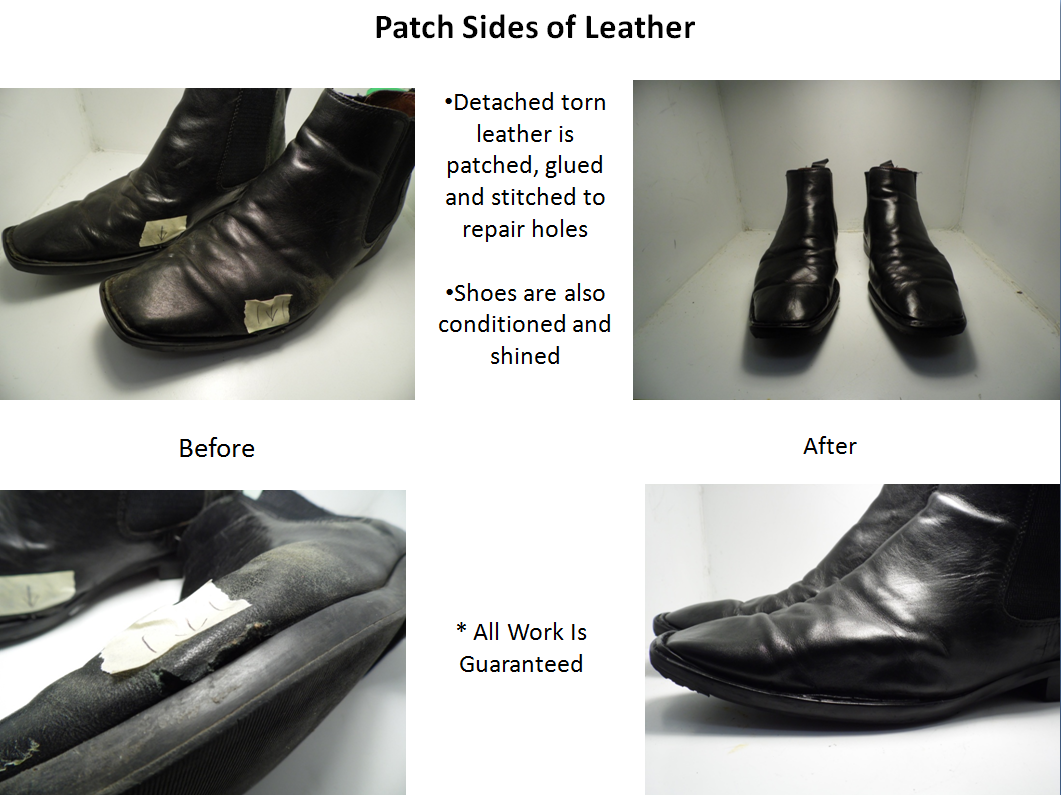 Patch Leather Boots Here!