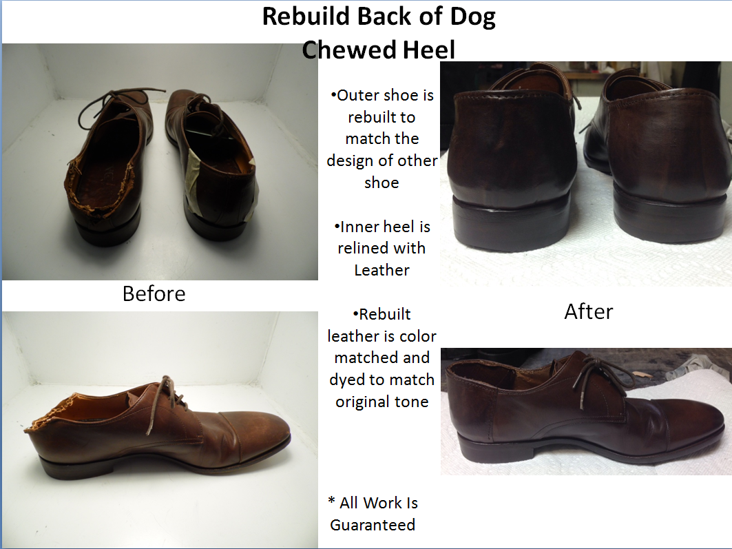 66090d8edb This is actually a common repair for our cobblers. We guarantee we can make  your shoes look brand new again.