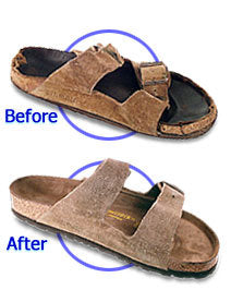 bb1a2564a7b We can resole the heel or change the cork on any Birkenstock and make it  look new again.