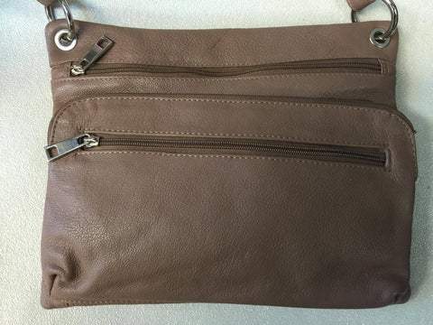 Pielino Genuine Leather Crossbody Handbag with Card Slot Pocket 40115