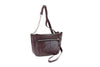 R&R LEATHER SHEEP SMALL TOP ZIP/FRONT METAL ZIP BOAT BAG 2-495-1F
