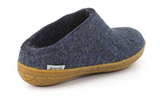 Glerups Unisex Model BR Wool Slipper Rubber Sole